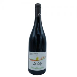 Beaujolais rouge Sans Sulfites ajoutés «Le Soly» 75 cl – Agamy