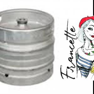 """Fût de bière blonde """"La Francette"""" 30L"""
